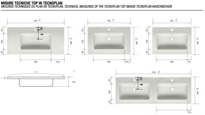 La veneta termosanitaria s r l monoblocco verona for Misure bagno