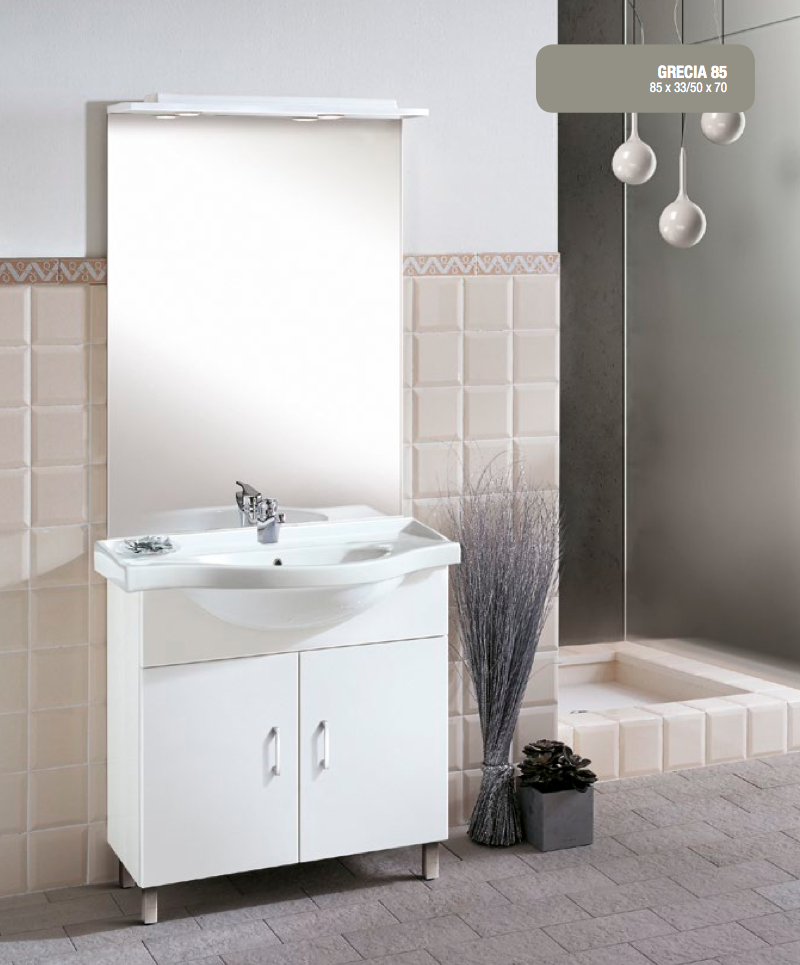 La veneta termosanitaria s r l monoblocco grecia piano ceramica by gb group - Gb group mobili bagno ...