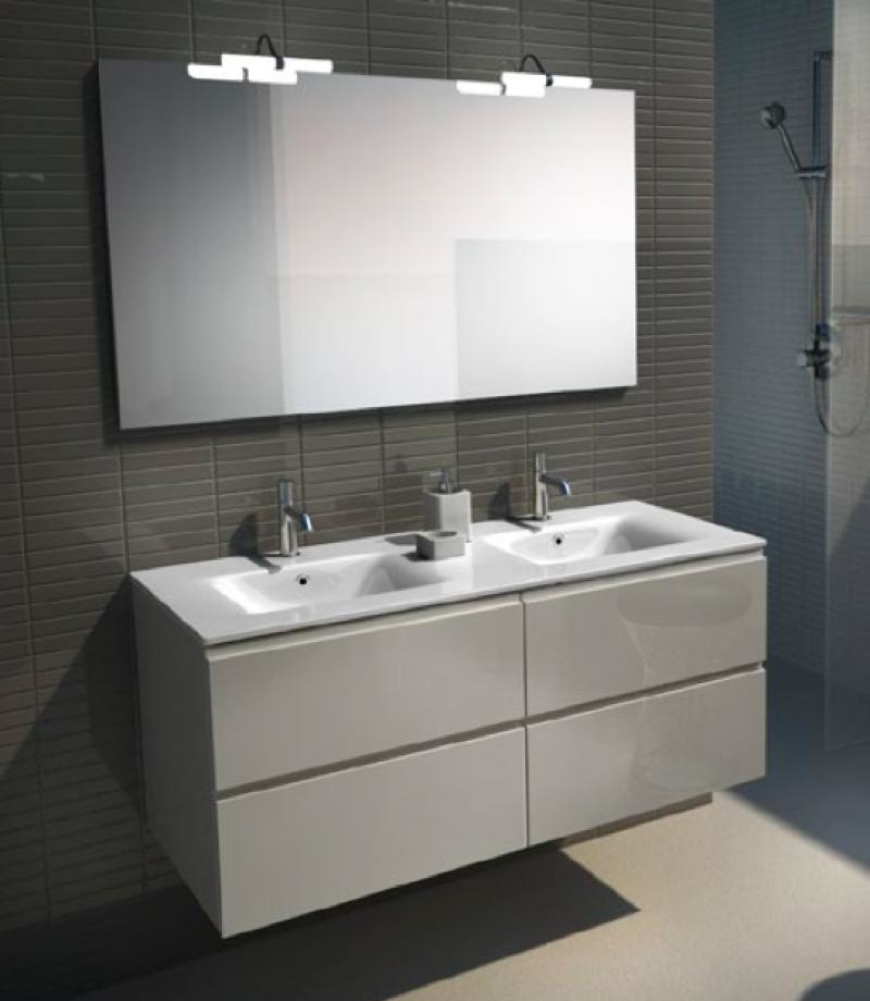 mobile bagno doppio lavabo : Fotos - Mobile Bagno Lavabo Doppio 120 Cm Sospeso Rovere Con Specchio