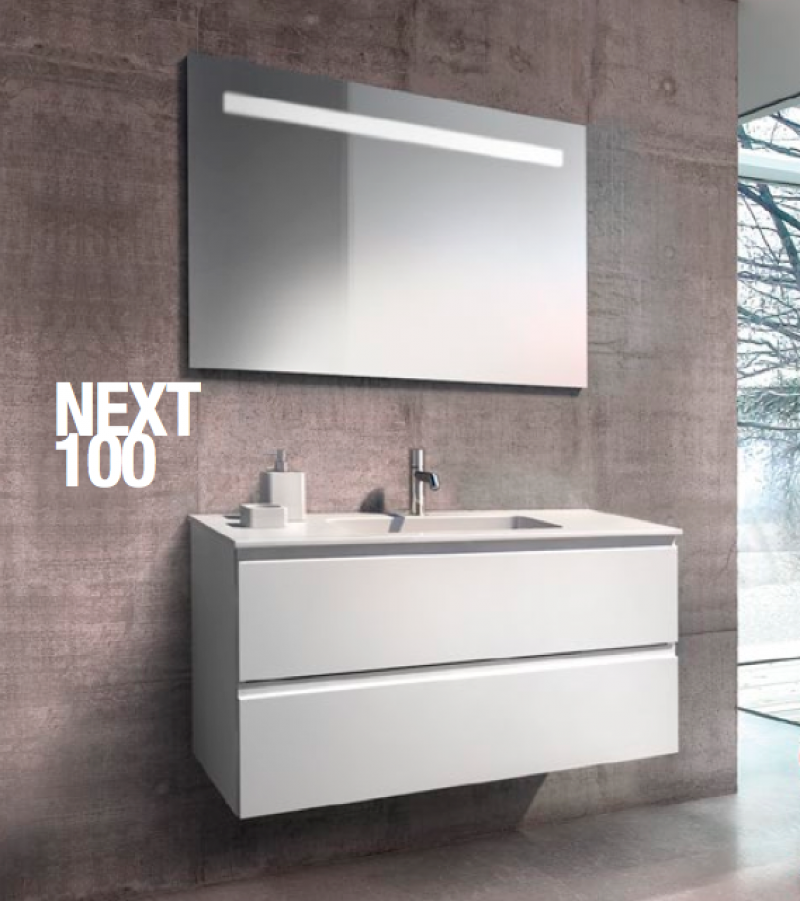 La veneta termosanitaria s r l monoblocco next 100 con cassetti e piano resina by gb group - Gb group mobili bagno ...