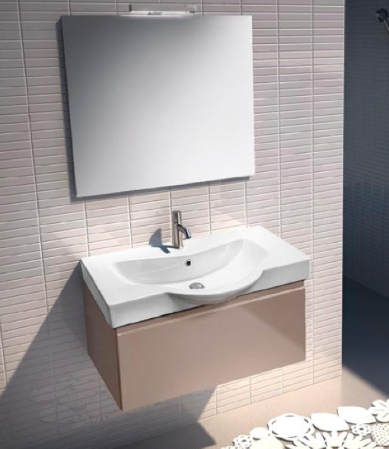 Mobili da bagno - Monoblocco - Impact 70 con cassetto e piano ceramica ...