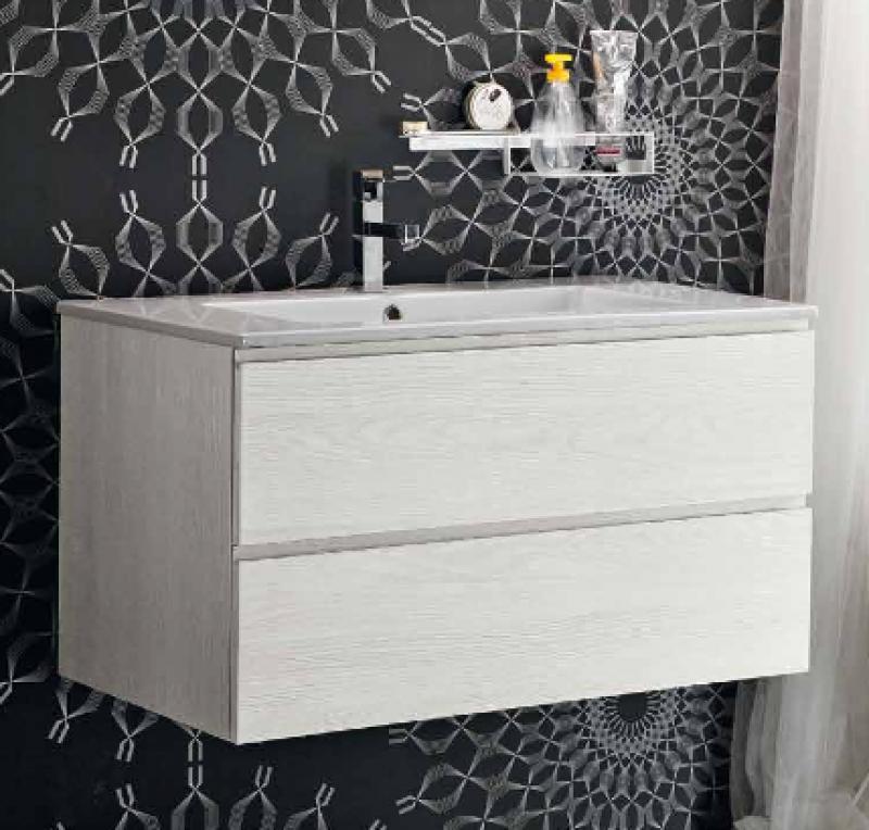 la veneta termosanitaria s.r.l. - - linee dritte con piano lavabo ... - Arblu Arredo Bagno
