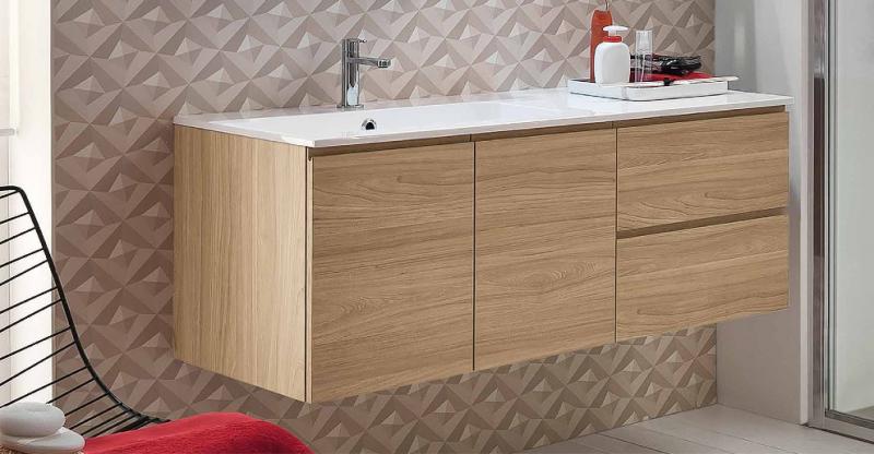 La veneta termosanitaria s r l linee dritte con piano lavabo integrato mobile da bagno - Mobile cassetti ...