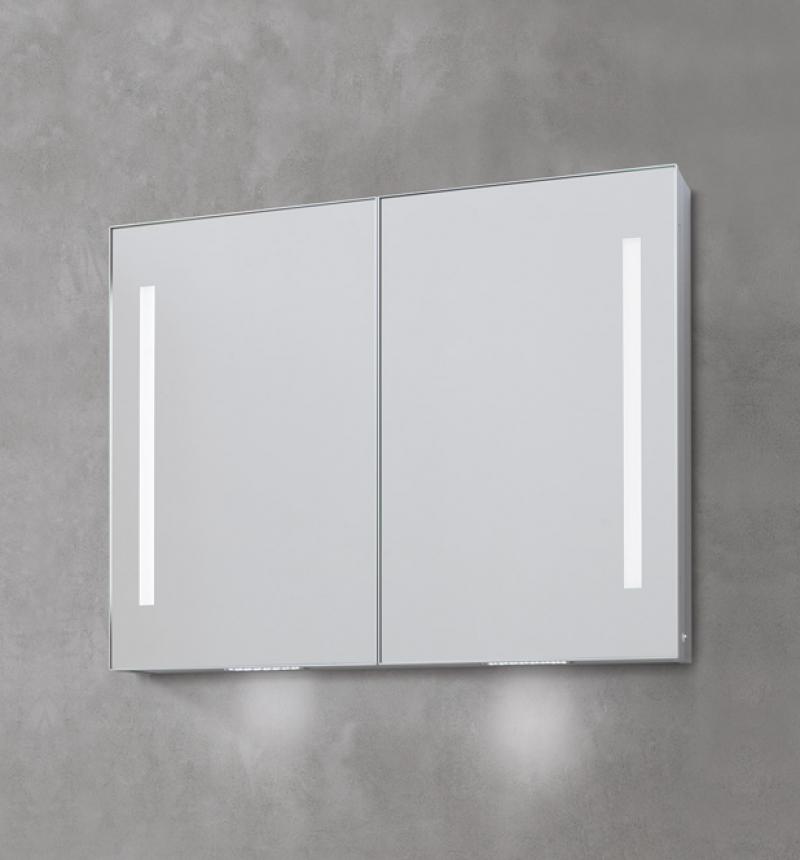 La veneta termosanitaria s r l specchiere contenitore specchiera da bagno contenitore led - Specchio bagno 70x90 ...
