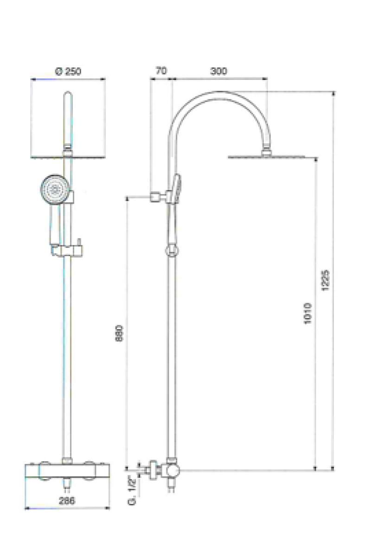 Pin bagno saliscendi e colonne esterne colonna doccia - Altezza soffione doccia ...