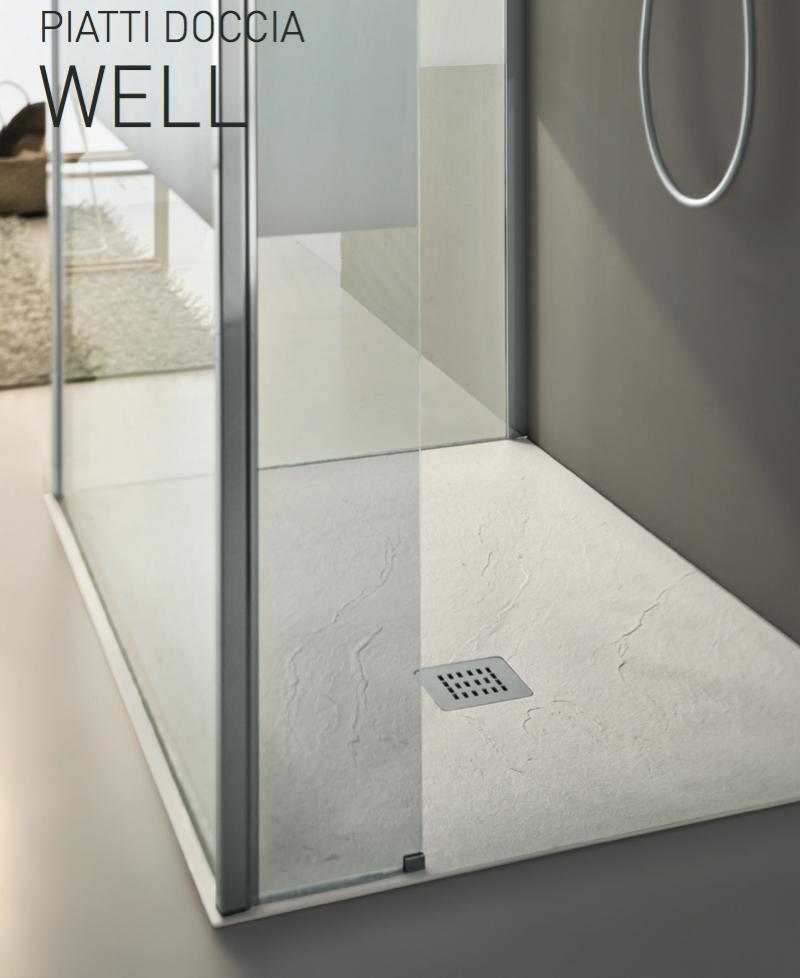 La veneta termosanitaria s r l piatti doccia piatto doccia well effetto pietra spaccata - Piatti doccia filo pavimento ...