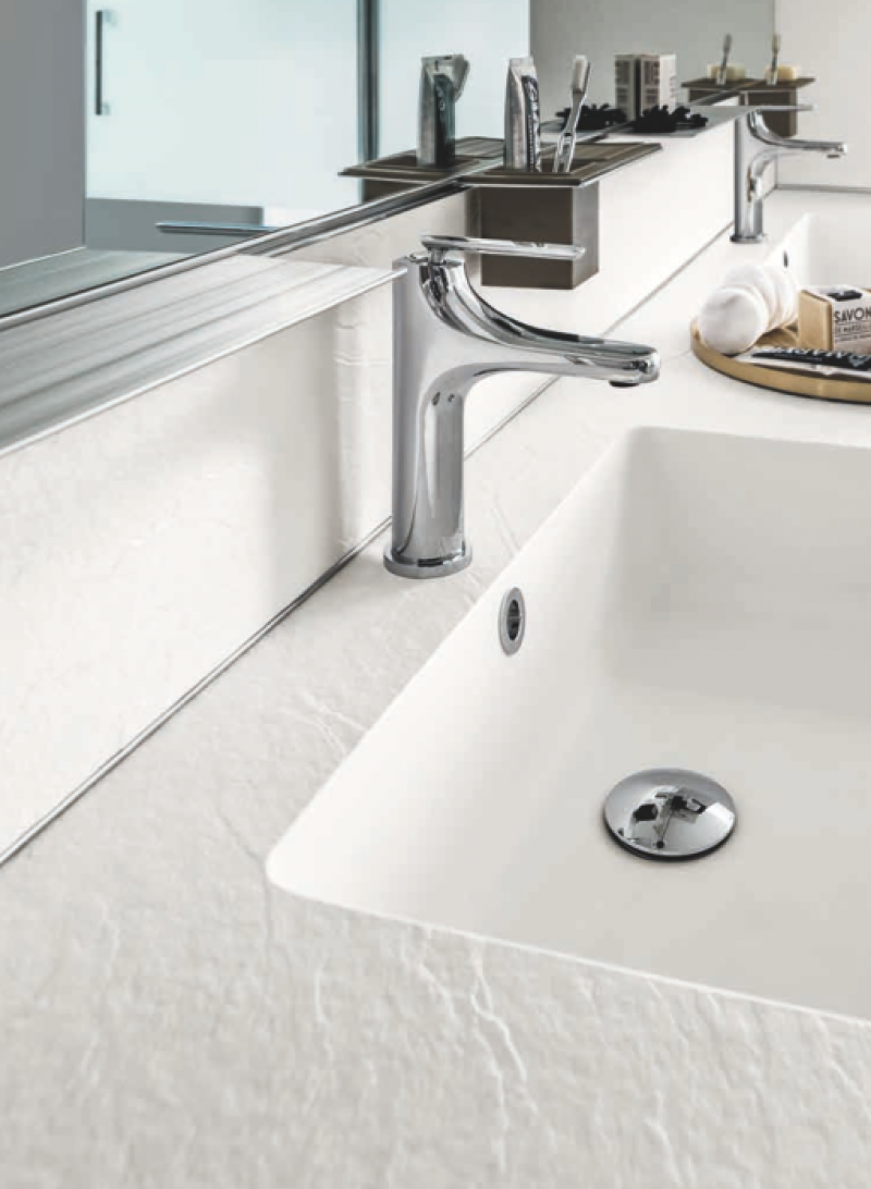 La veneta termosanitaria s r l linee dritte con piano - Piani lavabo bagno ...