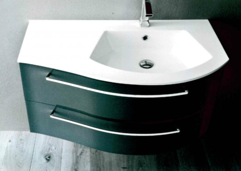 La veneta termosanitaria s r l linee curve con piano lavabo integrato mobile da bagno - Mobile bagno stondato ...