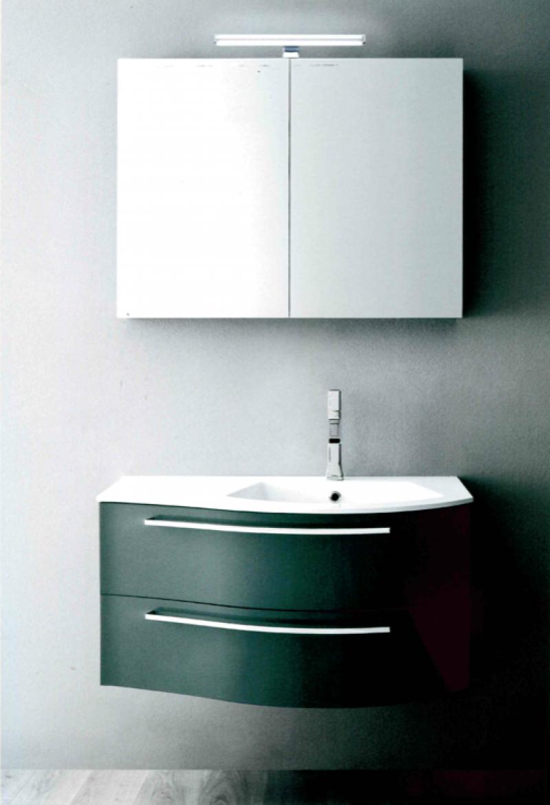 La veneta termosanitaria s r l linee curve con piano lavabo integrato mobile da bagno - Mobile bagno asimmetrico ...