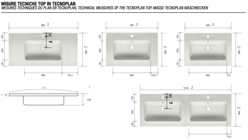 La veneta termosanitaria s r l composizioni complete europa con ante by gb group - Misure lavabo bagno ...