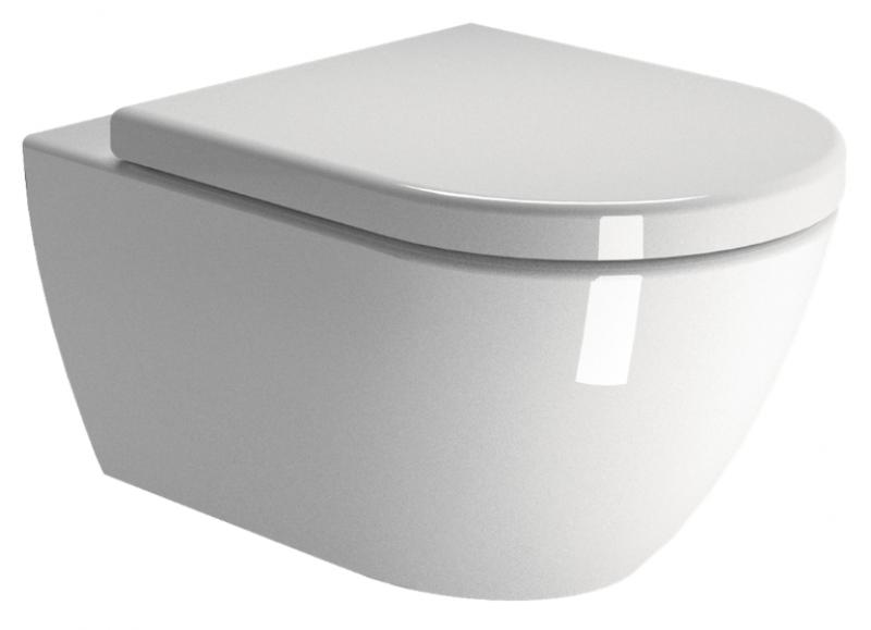 Coppia di sanitari sospesi wc e bidet in ceramica
