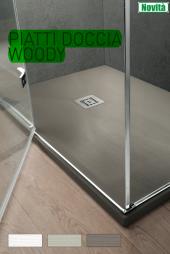 Piatto doccia effetto legno Woody su misura filo pavimento Arblu